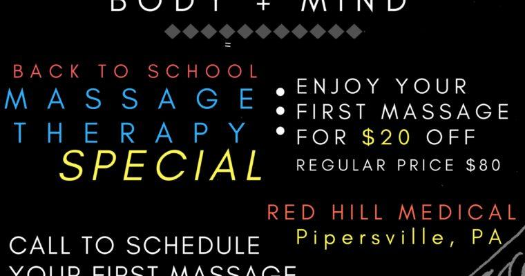 Healing Massage / Fall Special