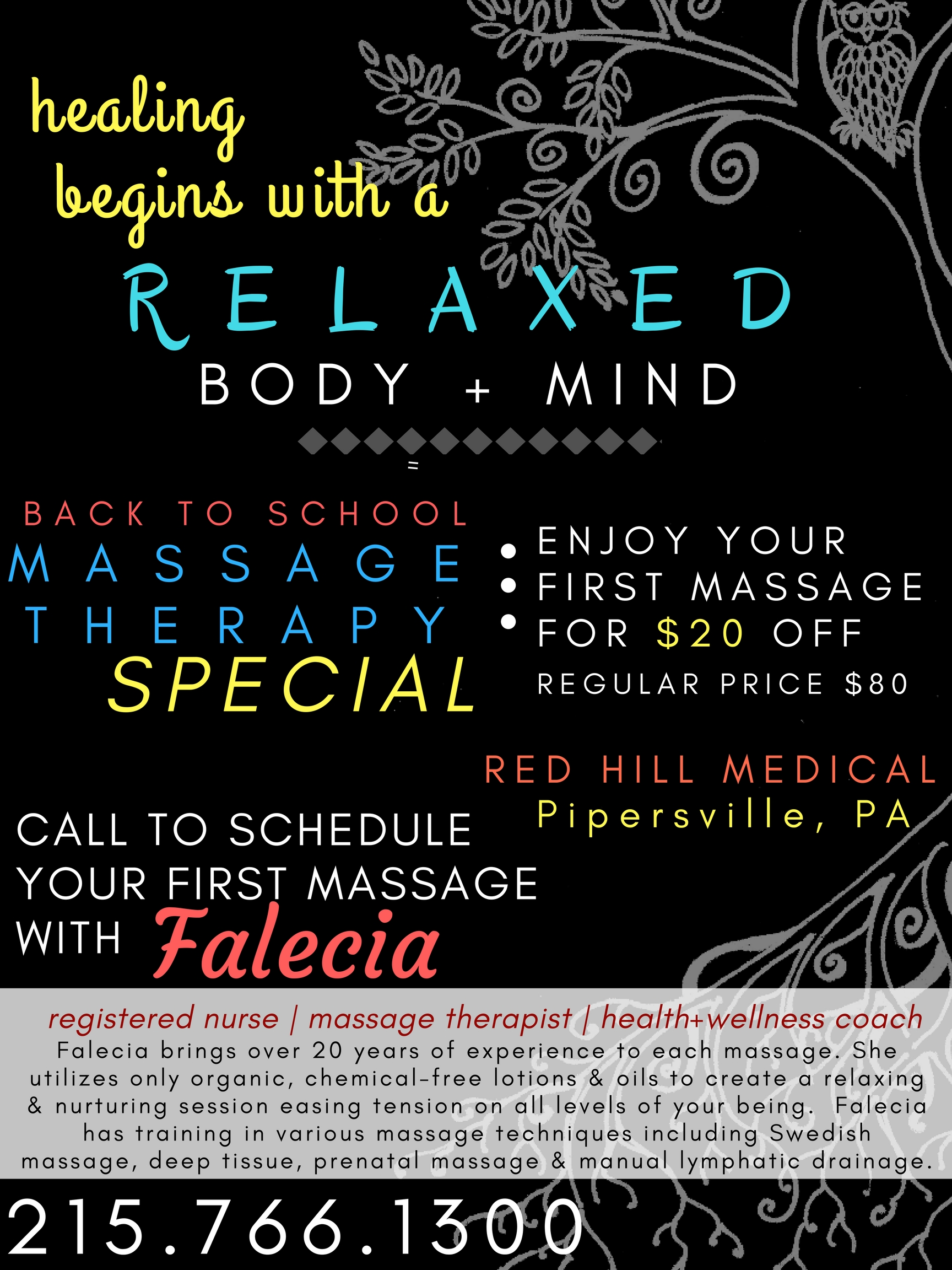 Healing Massage / Fall Special