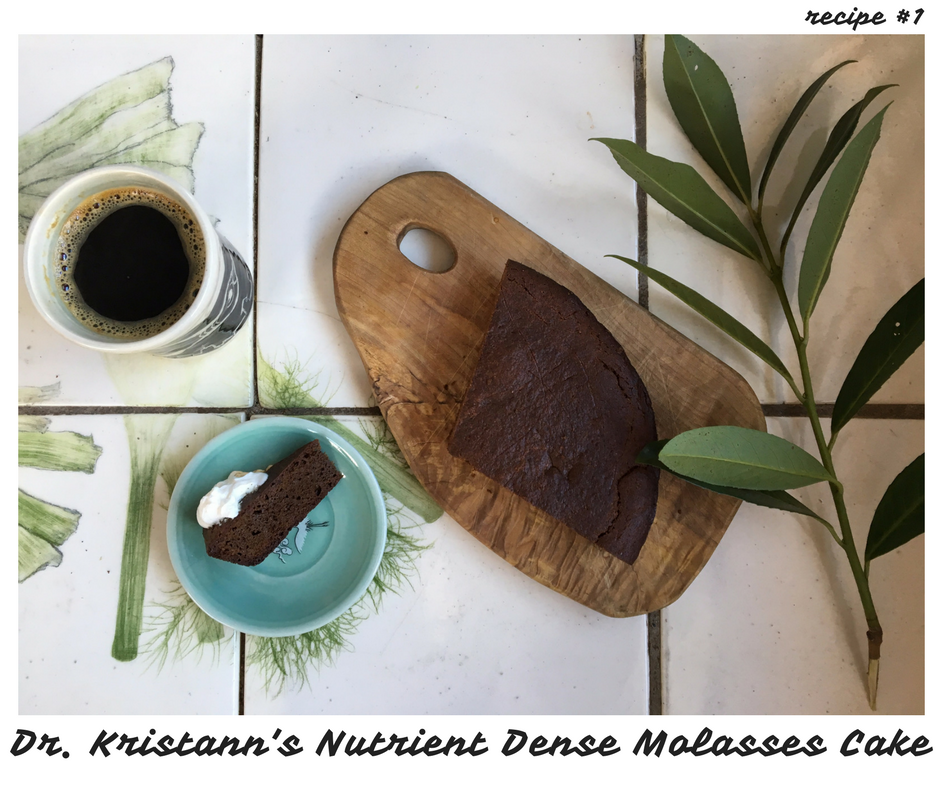 Dr. Kristann's Nutrient Dense Molasses Cake
