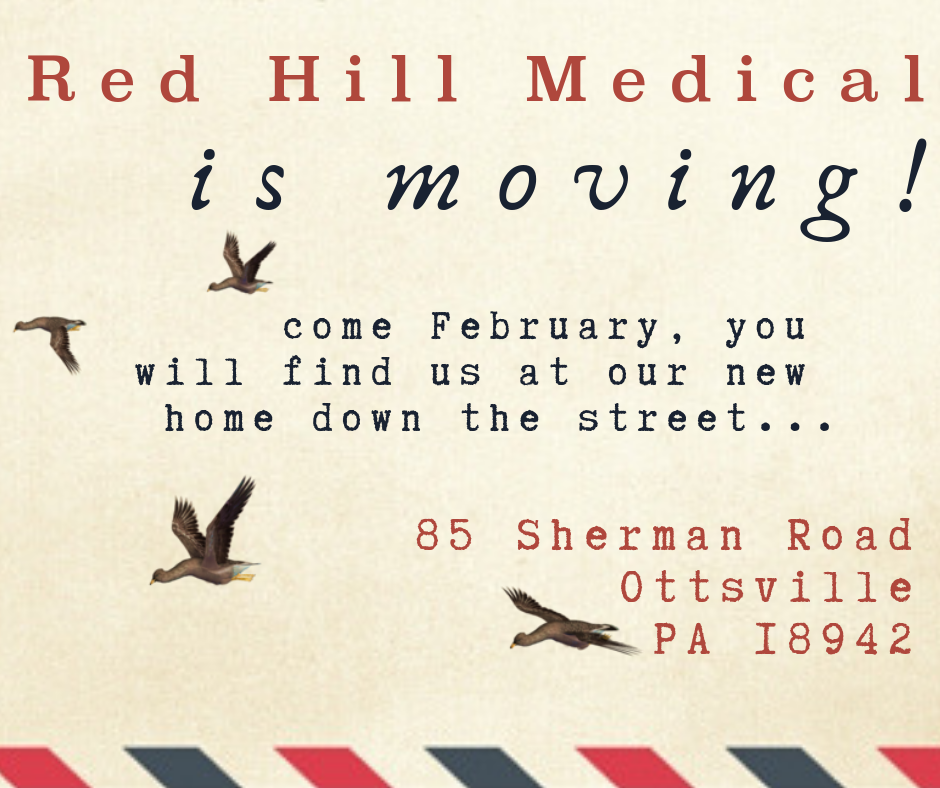 Come February, you will find us at our new home down the street... 85 Sherman Road, Ottsville, PA 18942!