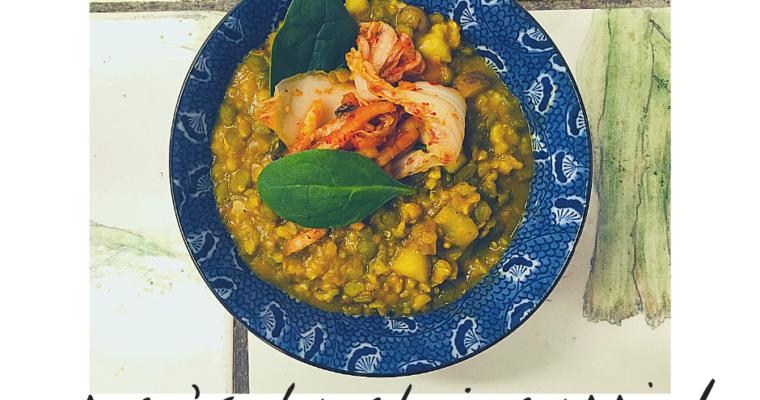 Curried Split Pea + Lentil Bowl