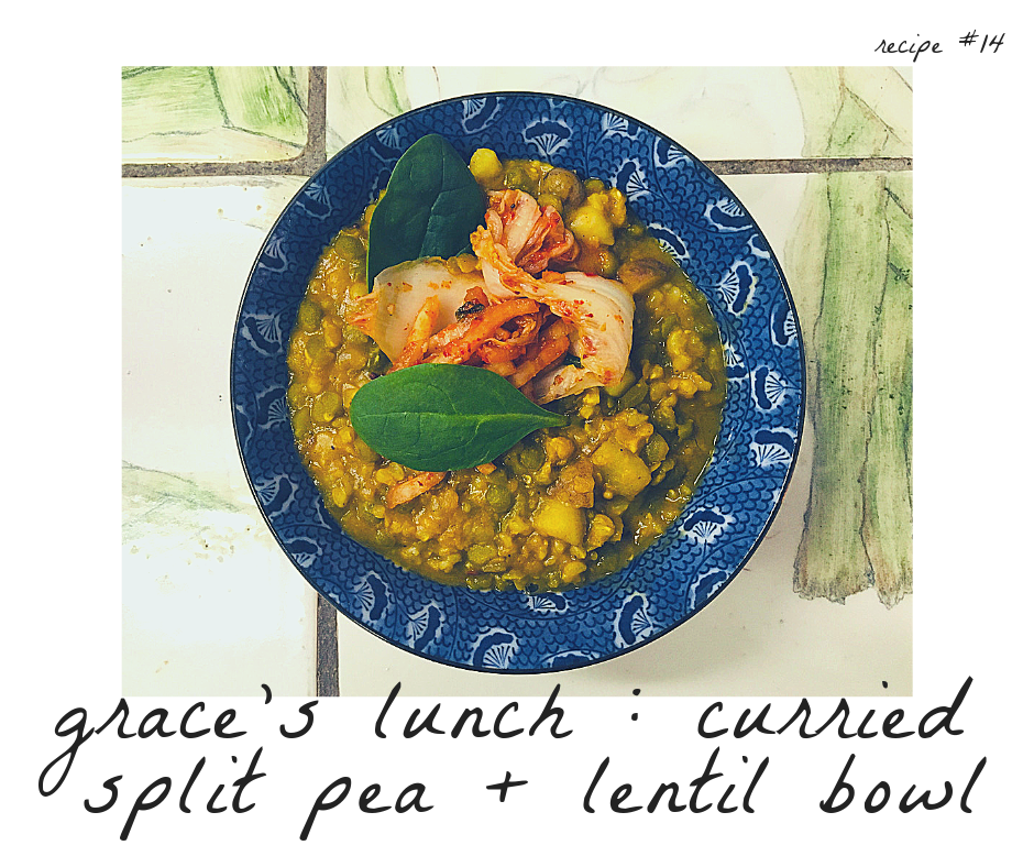 Curried Split Pea + Lentil Bowl