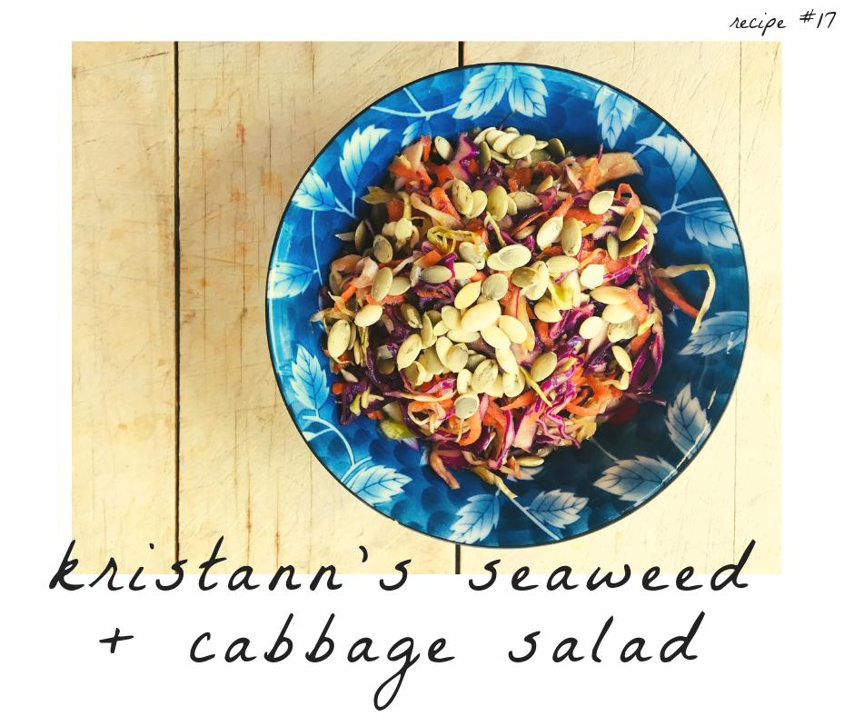 Seaweed + Cabbage Salad