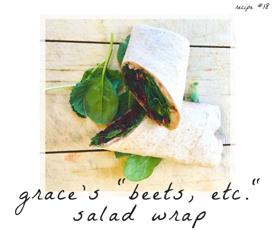 """Beets, etc."" Salad Wrap"